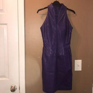Michael Hoban Vintage leather dress